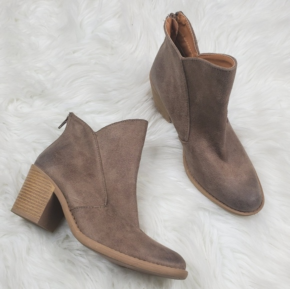 Altar'd State Shoes - Altar'd State Vegan Leather Distressed Booties